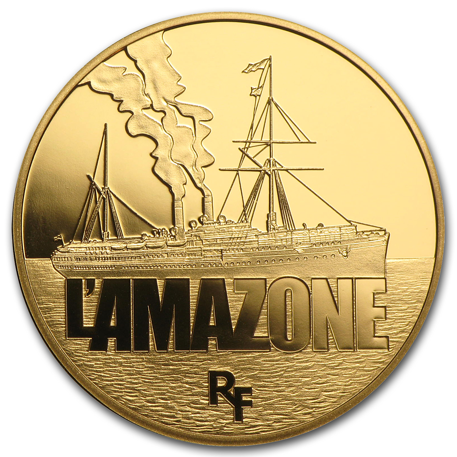 2013 1/4 oz Proof Gold Great French Ships L'Amazone